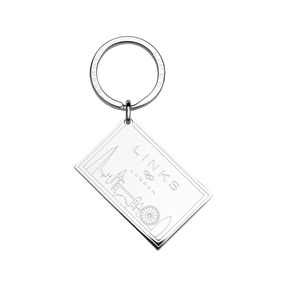Silver Plated Postcard Keyring-