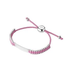 Friendship Ασημένιο Βραχιόλι baby με ροζ κλωστή-