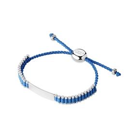 Friendship Ασημένιο Βραχιόλι baby με γαλάζια κλωστή-