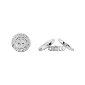 Sterling Silver Button Chainlink Cufflinks-