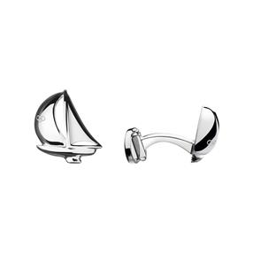 Sterling Silver Yacht Cufflinks-