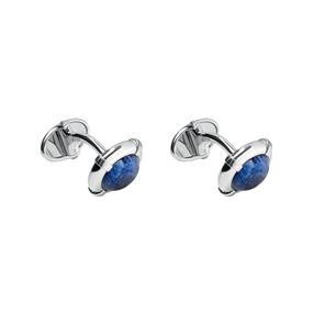 Sterling Silver Sodalite Cufflinks-