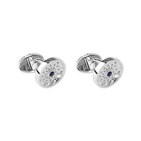 Timeless Sterling Silver & Sapphire Cufflinks-