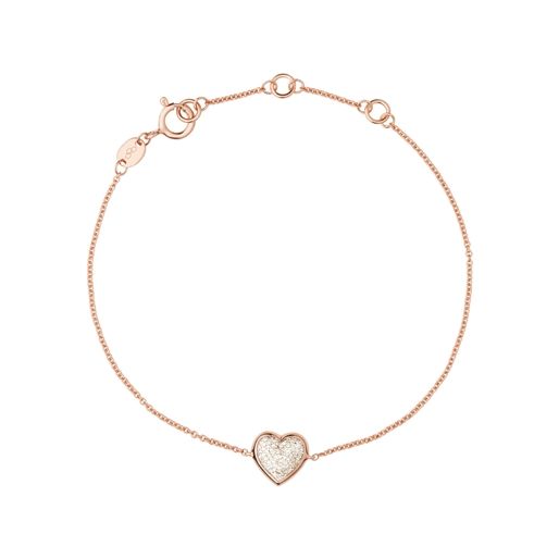 Diamond Essentials Ασημένιο βραχιόλι με ροζ επιχρύσωση 18 καρατίων και διαμάντια-