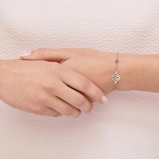Timeless Χρυσό Βραχιόλι με διαμάντια-