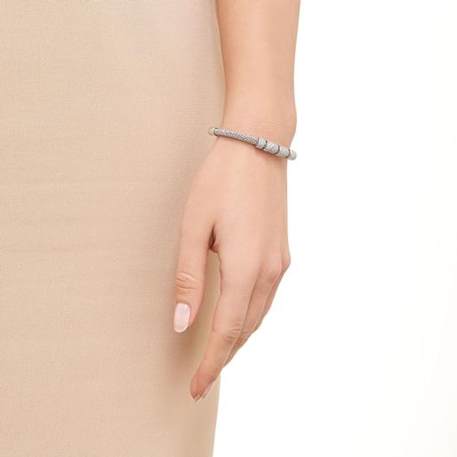 Starlight Sterling Silver & Sapphire Coronet Bracelet-
