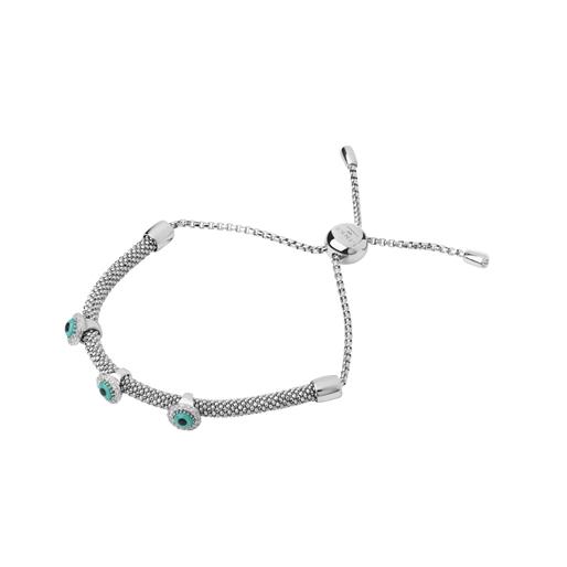 Starlight Evil Eye Sterling Silver & Sapphire Bracelet-