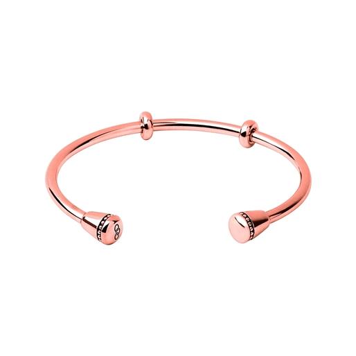 Amulet Ασημένιο βραχιόλι με ροζ επιχρύσωση 18 καρατίων-