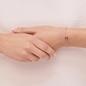 Treasured Ασημένιο Βραχιόλι με ροζ επιχρύσωση 18 καρατίων και διαμάντια-