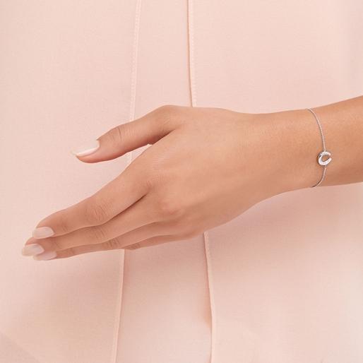 Ascot Diamond Essentials Sterling Silver Horseshoe Bracelet-