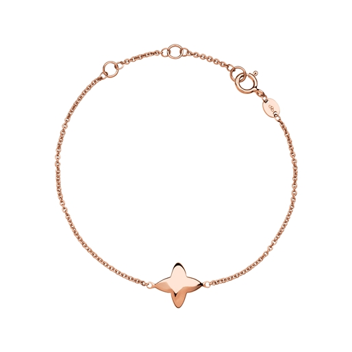 Splendour 18kt Rose Gold Vermeil Four-Point Star Bracelet-