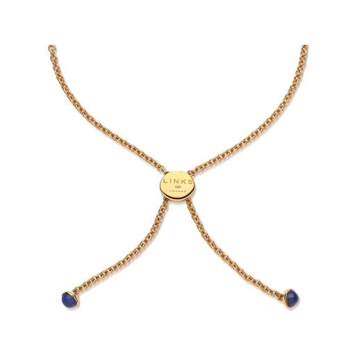 Open Heart 18kt gold-vermeil & lapis lazuli toggle bracelet-