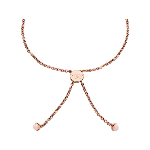 Open Heart Ασημένιο Βραχιόλι με ροζ επιχρύσωση 18 καρατίων και ροζ οπάλιο-
