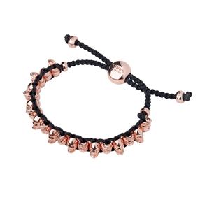 18kt Rose Gold Vermeil Skull Friendship Bracelet-