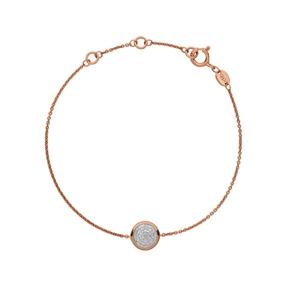 Diamond Essentials 18kt Rose Gold Vermeil & Pave Round Bracelet-