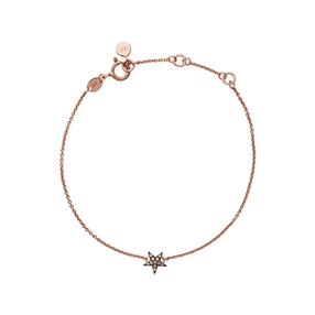 Diamond Essentials Ασημένιο βραχιόλι με ροζ επιχρύσωση 18 καρατίων με διαμάντια-