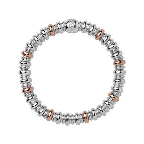 Sweetheart Sterling Silver & 18kt Rose Gold Vermeil Bracelet-