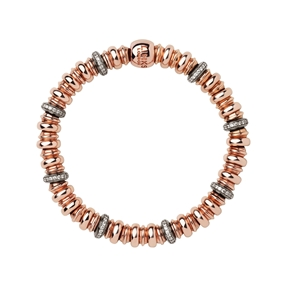 Sweetheart 18kt Rose Gold Vermeil, White Topaz & Black Rhodium Bracelet-
