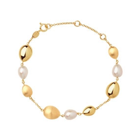 Hope 18kt Yellow Gold & Pearl Bracelet-