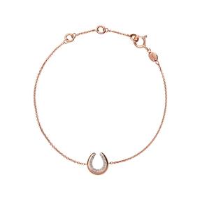 Ascot Diamond Essentials 18kt Rose Gold Vermeil Horseshoe Bracelet-