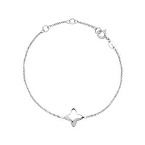 Splendour Sterling Silver Four-Point Star Bracelet-