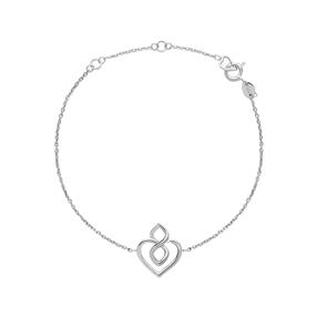 Infinite Love Sterling Silver Heart Bracelet-