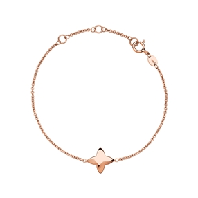 Splendour 18kt Rose Gold Vermeil Four-Point Star Bracelet-