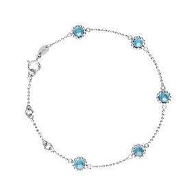 Effervescence Gems Ασημένιο Βραχιόλι με μπλε τόπαζ-