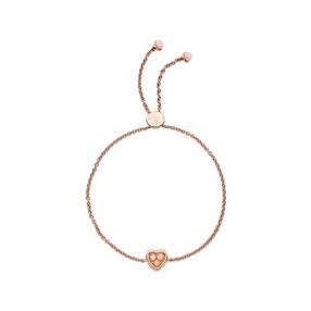 Open Heart 18kt rose gold-vermeil & pink opal toggle bracelet-