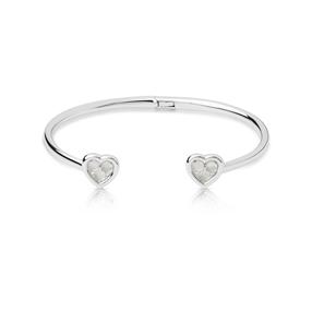 Open Heart Ασημένιο Βραχιόλι με Moonstone και διαμάντια-