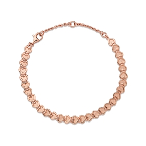 Endless Love 18kt rose gold-vermeil mini heart bracelet-
