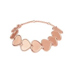 Endless Love 18kt rose gold-vermeil heart bracelet-
