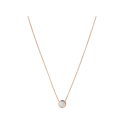 Diamond Essentials Ασημένιο κολιέ με ροζ επιχρύσωση 18 καρατίων και διαμάντια -
