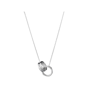 20/20 Sterling Silver Interlocking Necklace-