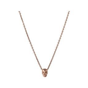 18kt Rose Gold Vermeil Mini Skull Necklace-