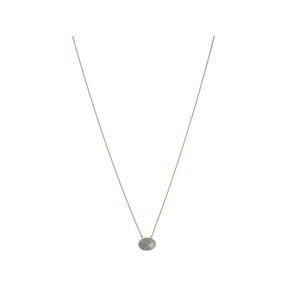 Concave 18kt Yellow Gold Vermeil & Diamond Necklace-