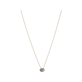 Diamond Essentials Concave Ασημένιο κολιέ με επιχρύσωση 18 καρατίων και διαμάντια-