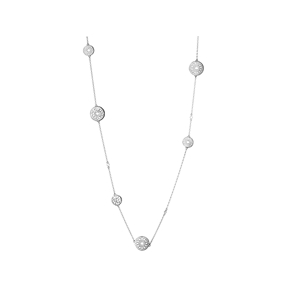 Timeless Sterling Silver Multi Station Necklace-