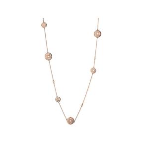 Timeless 18kt Rose Gold Vermeil Multi Station Necklace-