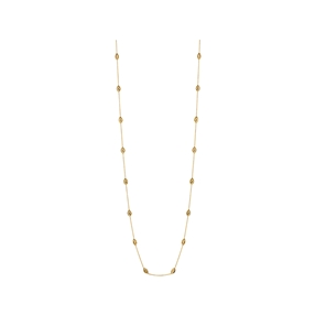 Essentials 18kt Yellow Gold Vermeil Beaded Chain Necklace 80cm-
