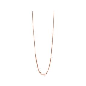 Essentials 18kt Rose Gold Vermeil Silk 5 Row Necklace 80cm-