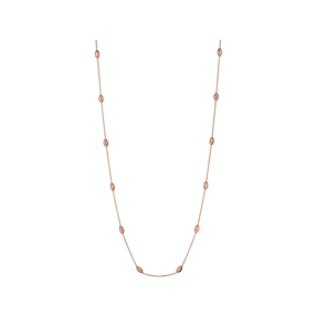 Essentials 18kt Rose Gold Vermeil Beaded Chain Necklace 60cm-