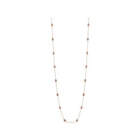 Essentials 18kt Rose Gold Vermeil Beaded Chain Necklace 80cm-