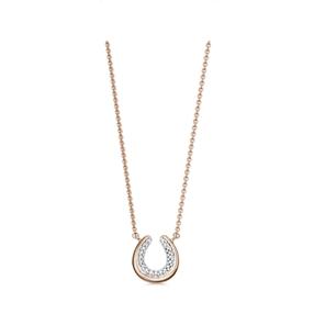 Ascot Diamond Essentials 18kt Rose Gold Vermeil Horseshoe Necklace-