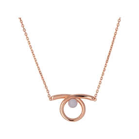 Serpentine 18kt Rose Gold Vermeil & Blue Lace Agate Gemstone Necklace-