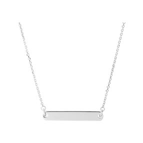 Narrative sterling silver short bar necklace-