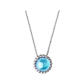 Effervescence Gems Ασημένιο Κολιέ με μπλε τόπαζ-