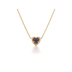 Open Heart Ασημένιο Μενταγιόν με επιχρύσωση 18 καρατίων και Lapis Lazuli-