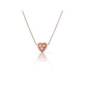Open Heart Ασημένιο Μενταγιόν με ροζ επιχρύσωση 18 καρατίων και pink opal-