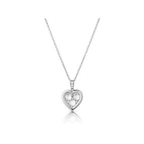 Open Heart Ασημένιο Μενταγιόν με Moonstone-